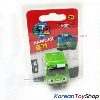 Tayo Little Bus ROGI Model Cute Mini Diecast Metal Bus Toy Car Kamicar Green Bus