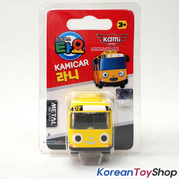 Tayo Little Bus RANI Model Cute Mini Diecast Metal Bus Toy Car Kamicar Yellow