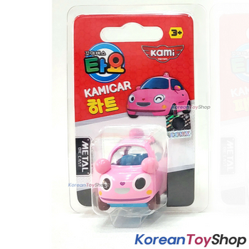 Tayo Little Bus HEART Model Cute Mini Diecast Metal Bus Toy Pink Car