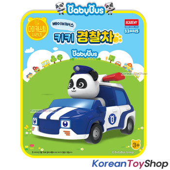 Baby Bus Panda Diecast Metal Kiki Police Car Patrol Toy Mini Car Free Wheels Academy Authentic 100%