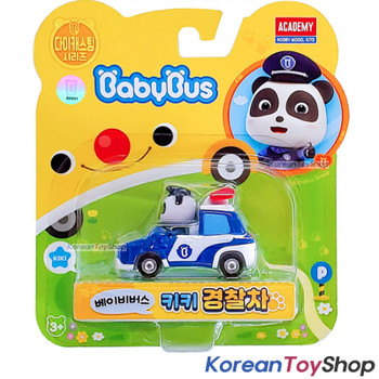 BabyBus Panda Diecast Metal Kiki Police Car Patrol Toy Mini Car Free Wheels Academy Authentic 100%