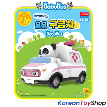 BabyBus Panda Diecast Metal Miumiu Ambulance Toy Mini Car Free Wheels Academy Authentic 100%