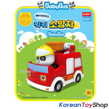 Baby Bus Panda Diecast Metal Kiki Fire Truck Engine Toy Mini Car Free Wheels Academy Authentic 100%