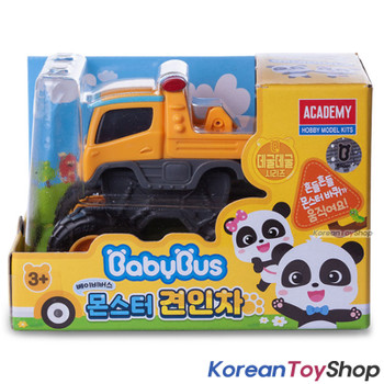 BabyBus Panda Monster 3 pcs Toy Car Set / Tow Truck / Police Car / Fire Truck