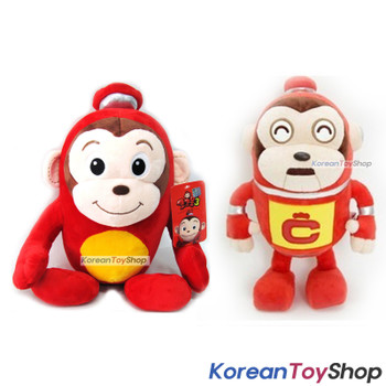 "Cocomong & Robocong Cute Soft Dolls Set Plush Toy 12"" 30cm Korean Animation"