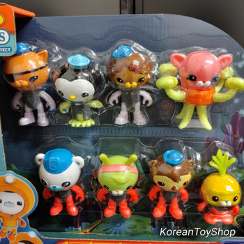 Octonauts Octo-Glow Crew Pack 8 pcs Figure Set Toy Glow in the Dark Fisher-Price