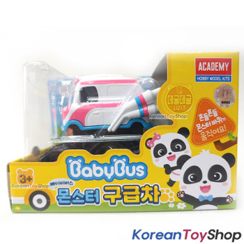 BabyBus Panda Monster AMBULANCE Toy Car Free Wheels Academy Authentic 100%