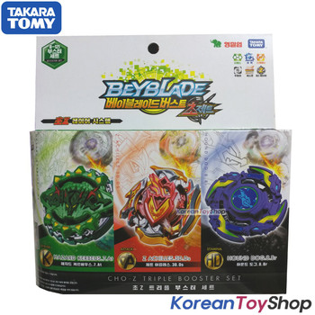 Beyblade Burst B-121 Triple Booster Set 3 Tops Super Z Takara Tomy 100% Authentic