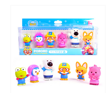 Pororo Friends 6 pcs Mini Figure Water Gun Set Pororo Crong Petty Lupy Eddie Poby