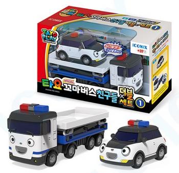 00300 TAYO Little Bus Friends Special Double Set V.1 & V2 Mini Car (Total 4 pcs)