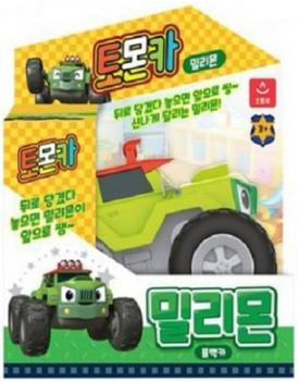 Tomoncar MILIMON Pullback Series Toy Mini Car Green Tomon Car Small Size