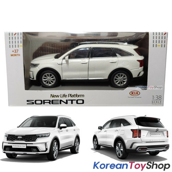 Kia Motors SORENTO MQ4 Diecast Mini Car Toy 1:38 Miniature Model WHITE