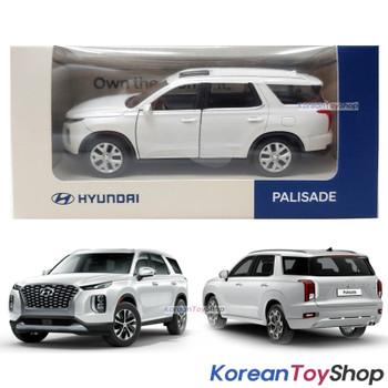 HYUNDAI Motors PALISADE Diecast Mini Car Toy 1:38 Miniature Model WHITE