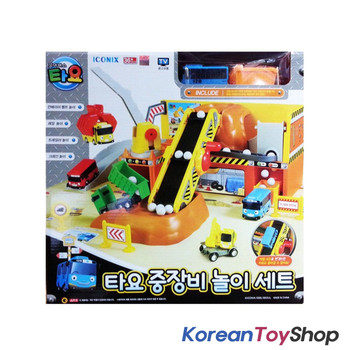 01040 - The Little Bus Tayo Heavy Equipment Play Set Toy w/ Tayo Mini Bus Korean Ani