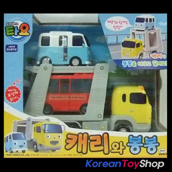 The Little Bus Tayo Main Diecast Plastic Car Set(2 Cars) Carry and Bongbong Toy