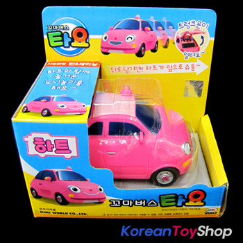 The Little Bus TAYO Main Diecast Plastic Mini Car Toy Heart Model Pink Original