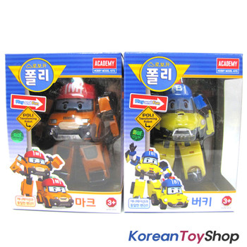 Robocar Poli MARK BUCKY Transformer Robot Car Toy Action Figure Academy Genuine