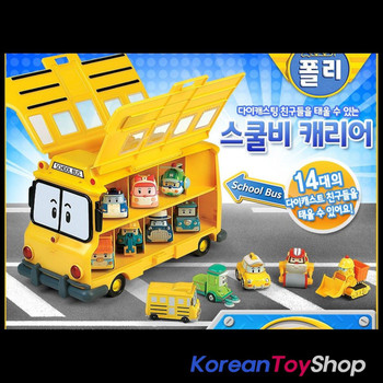 Robocar Poli School Bi Carrier Toy Car for Diecast Models Excluding Diecast Cars