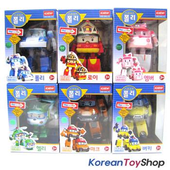 Robocar Poli Transformer 6 pcs POLI ROY AMBER HELLY MARK BUCKY Robot Car Toy