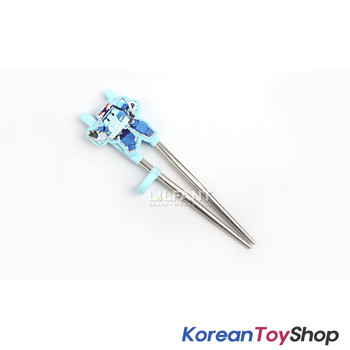 Robocar Poli Stainless Steel Training Chopsticks Step 2 / Poli Model BPA Free