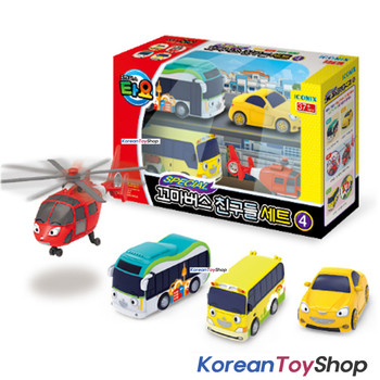 00150 - Little Bus TAYO Friends Special V.4 Mini Car 4 pcs Toy Set  Shine Air Kinder Peanut NEW