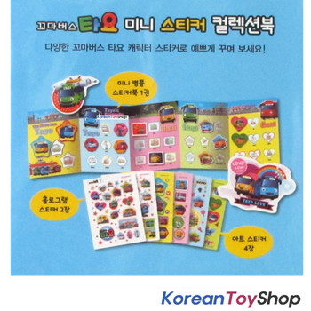 Little Bus Tayo Mini Sticker Collection Book 11 Sheets 190 pcs Stickers Korea