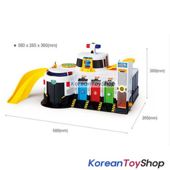 01050 - Tayo Little Bus Emergency Rescue Center Headquarter Main Garage Play Set Toy