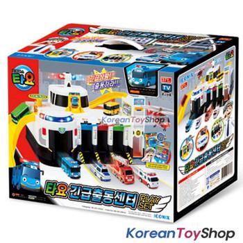 Tayo Bus Emergency Rescue Center Headquarter Main Garage Play Set Toy + 4 pcs