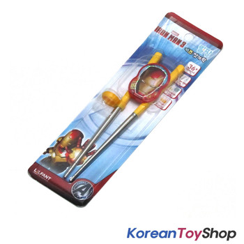 Marvel IRON MAN 3 Training Chopsticks Stainless Steel Avengers BPA Free Step 2