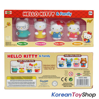 Hello Kitty & Family 4 pcs Figure Set Toy