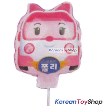 Robocar Poli Balloon w/ Stick Birthday Picnic Party Supplies - AMBER Model