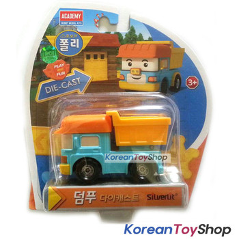 Robocar Poli DUMP Diecast Metal Figure Toy Car Academy Genuine