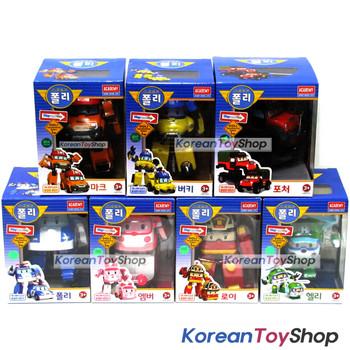 Robocar Poli Transformer 7 pcs POLI ROY AMBER HELLY MARK BUCKY POACHER Toy Car