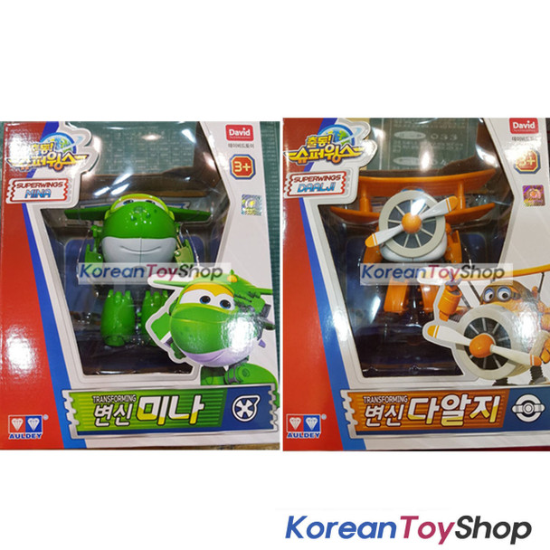 Super Wings MIRA & Grand Albert 2 pcs Transformer Robot Toy Season 2 New Version
