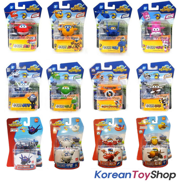 Super Wings Jett Mini 12 pcs Transformer Robot Toy Set w/ Season 2 New Models