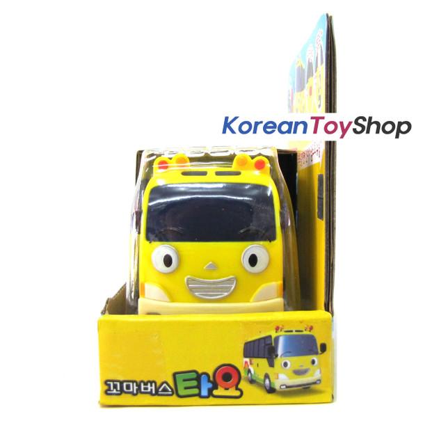 The Little Bus Tayo KINDER Diecast Plastic Car Full Back Yellow Kindergarten Bus