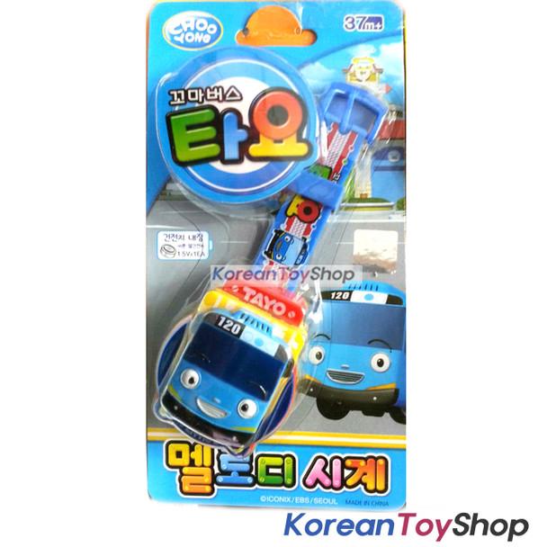 TAYO Melody Watch SKY BLUE Wrist Band Toy w/ Figure Kids Children Korean Ani