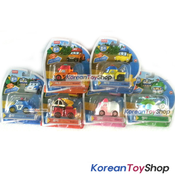 Robocar Poli Convertible Rescue Center Headquarter Play set & 6 pcs Diecast Toy