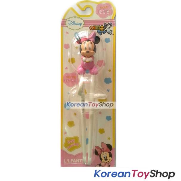 Disney Minnie Mouse Training Chopsticks for Kids, Left Handed Korean Edison