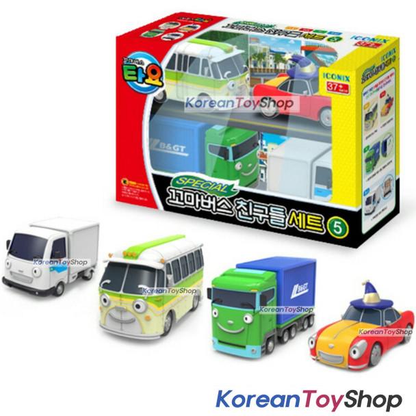 00160 Little Bus TAYO Friends Special 4 pcs Mini Car Toy V.5 Buba Lucy Big Toni NEW