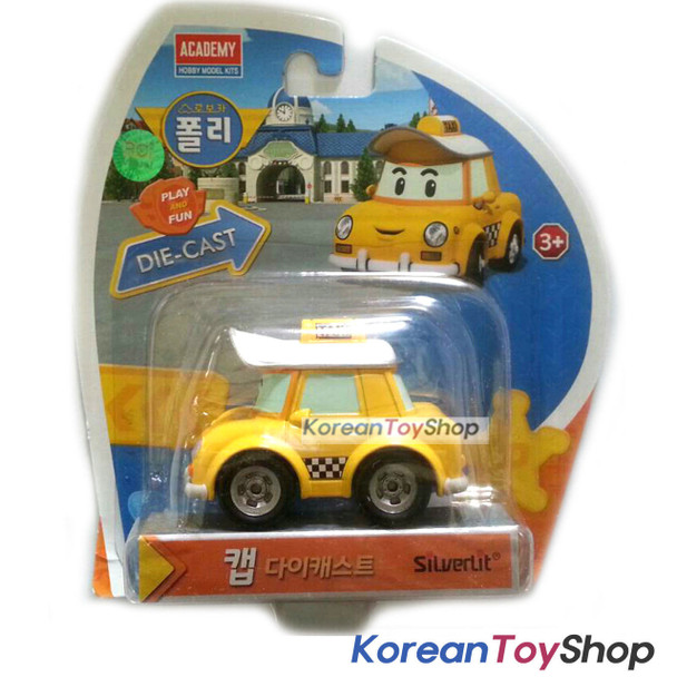 Robocar Poli CAP Diecast Metal Figure Toy Car Taxi Academy Genuine