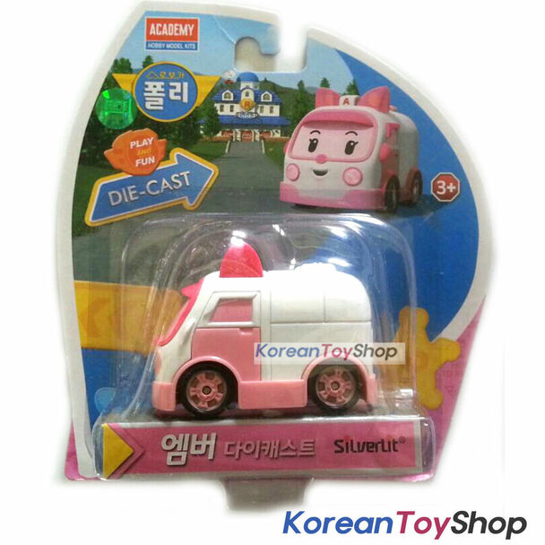Robocar Poli AMBER Diecast Metal Figure Toy Car Ambulance Academy Genuine