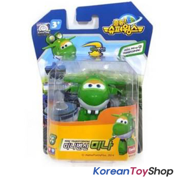 Super Wings Mini Transformer Robot Toy MINA / MIRA Green Airplane Korean Ani