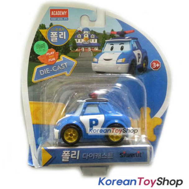 Robocar POLI Diecast Metal Figure Toy Car Police Patrol Car Academy Genuine