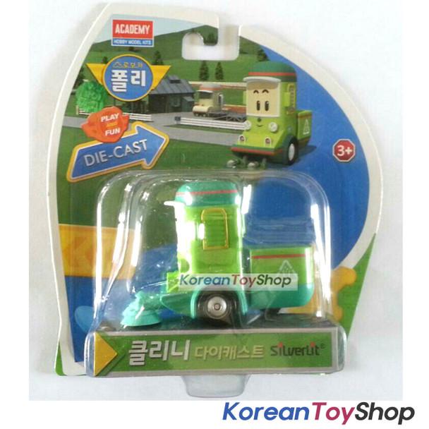 Robocar Poli CLEANY Diecast Metal Figure Toy Car Street Sweeper Academy Genuine