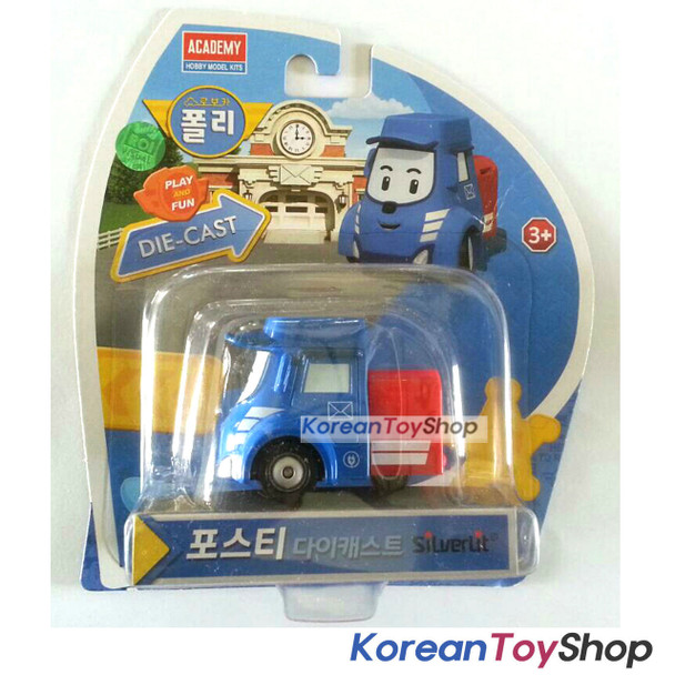 Robocar Poli POSTY Diecast Metal Figure Toy Car Mail Truck Academy Genuine