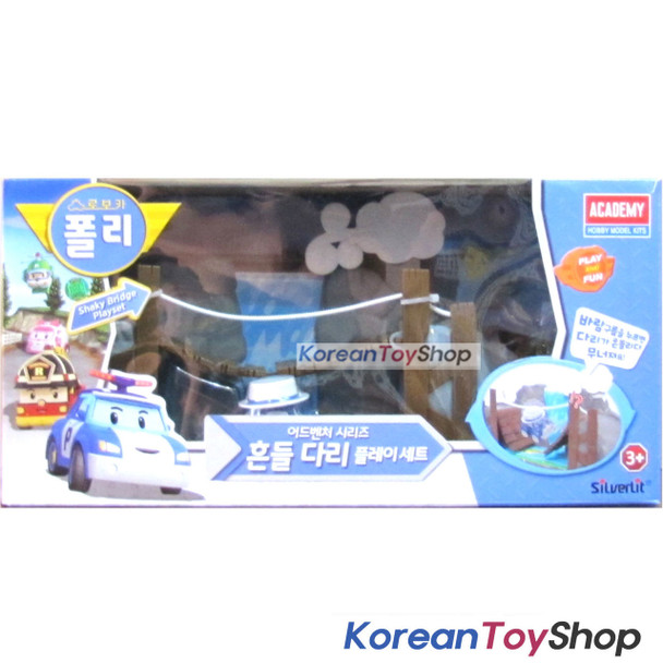 Robocar Poli Shaky bridge Playset & Musty Diecast model for Diecast model