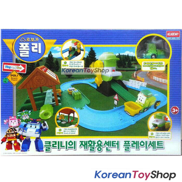 Robocar Poli Cleany's Recycle Center Play Set w/ Cleany Diecast model