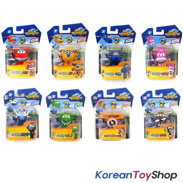 Super Wings Mini Transformer Robot 8 pcs Toy Set HOGI DONNIE JEROME ARI BONG ...