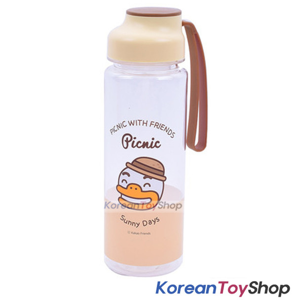 KAKAO Friends TUBE Picnic Silicone Handle Water Bottle 500ml Original BPA Free